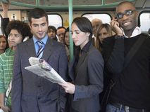 Multiethnic Commuters In Train Stock Photo