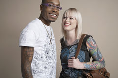 Multiethnic Couple Smiling Stock Image