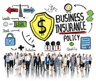 Multiethnic Crowd People Safety Risk Business Insurance Concept Stock Photography