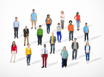Multiethnic Diverse Cheerful People Community Concept.  Royalty Free Stock Images