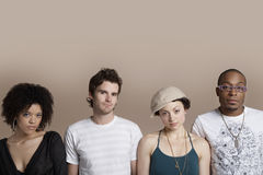 Multiethnic Friends Standing Together Stock Photography
