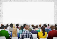 Multiethnic Group of Audiences with Copy Space Royalty Free Stock Photo