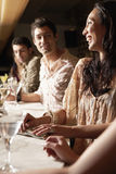 Multiethnic Group At The Bar stock photography