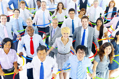 Multiethnic Group of Business People with Connection Concept Stock Images