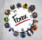 Multiethnic Group of Business People with Forex Royalty Free Stock Images