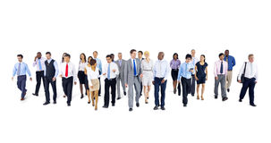 Multiethnic Group of Business People Isolated on White Stock Image