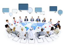 Multiethnic Group of Business People Meeting Stock Image