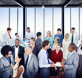 Multiethnic Group of Business People in the Office Royalty Free Stock Images
