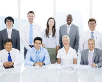 Multiethnic Group of Business People in Office Royalty Free Stock Photos
