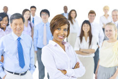 Multiethnic Group of Business People Smiling Stock Image