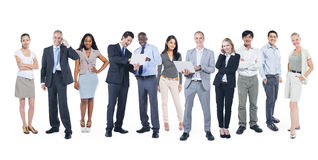 Multiethnic Group of Business People Working Royalty Free Stock Image