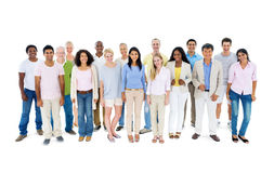 Multiethnic group of casual people Royalty Free Stock Photography