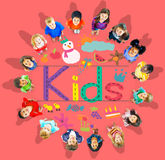 Multiethnic Group of Children Education Concept Royalty Free Stock Photo