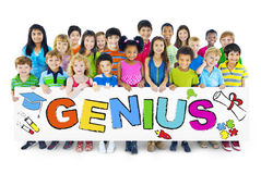 Multiethnic Group of Children with Genius Concept.  Royalty Free Stock Photo
