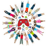 Multiethnic Group of Children with Variety Activty Stock Images