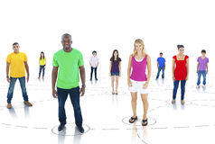 Multiethnic Group of Connected People.  stock photos