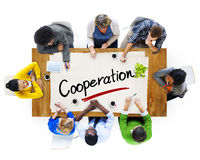 Multiethnic Group with Cooperation Concepts Royalty Free Stock Photography