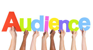 Multiethnic Group of Hands Holding Audience Royalty Free Stock Photos