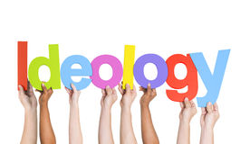 Multiethnic Group of Hands Holding Ideology Royalty Free Stock Image