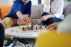 Free Multiethnic Group Of Business People Playing Chess Royalty Free Stock Photo - 191282025