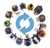 Multiethnic Group of Peolple Social Networking.  Stock Images