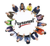 Multiethnic Group of People and Agreement Concepts Stock Images