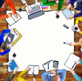Multiethnic Group of People Brainstorming. Royalty Free Stock Images