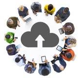 Multiethnic Group of People Cloud Computing Stock Photos