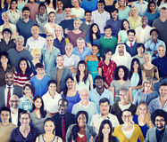 Multiethnic Group of People with Colorful Outfit Stock Image