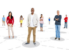 Multiethnic Group of People with Connection Concept Stock Photography