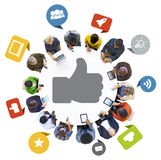 Multiethnic Group of People and Digital Devices stock photos