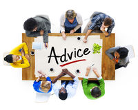 Multiethnic Group of People Discussing About Advice Royalty Free Stock Photos