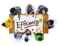 Multiethnic Group of People Discussing About Efficiency Stock Photo
