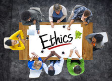 Multiethnic Group of People Discussing About Ethics Stock Image