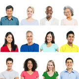 Multiethnic Group Of People Expressing Positivity.  stock image
