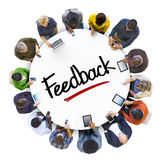 Multiethnic Group of People with Feedback Concept Royalty Free Stock Photo