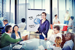Multiethnic Group of People with Global Communications Concept Stock Photo