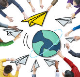 Multiethnic Group of People with Global Communications Concept Royalty Free Stock Image