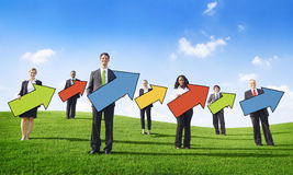 Multiethnic Group of People with Growth Concepts Royalty Free Stock Photography