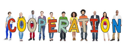 Multiethnic Group of People Holding Cooperation Stock Photography