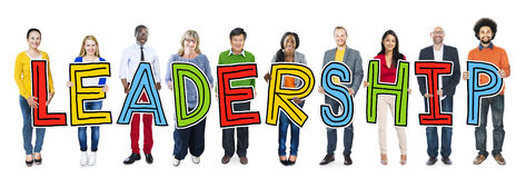 Multiethnic Group of People Holding Letter Leadership Royalty Free Stock Photography