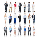 Multiethnic Group of People Isolated on White Royalty Free Stock Photo