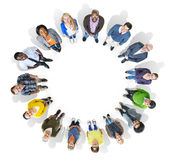 Multiethnic Group of People Looking Up at the Camera Royalty Free Stock Photos