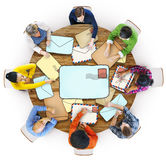 Multiethnic Group of People with Mail Concept Royalty Free Stock Image