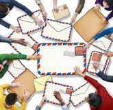 Multiethnic Group of People with Mail Concept Royalty Free Stock Photo