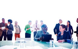 Multiethnic Group of People Meeting in the Office Concept.  Stock Photos