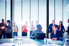 Multiethnic Group of People Meeting in the Office Concept.  Royalty Free Stock Photo