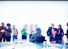 Multiethnic Group of People Meeting in the Office Concept Stock Images
