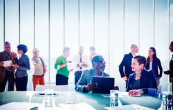 Multiethnic Group of People Meeting in the Office Concept Stock Photo