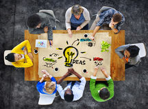 Multiethnic Group of People Planning Ideas Royalty Free Stock Image